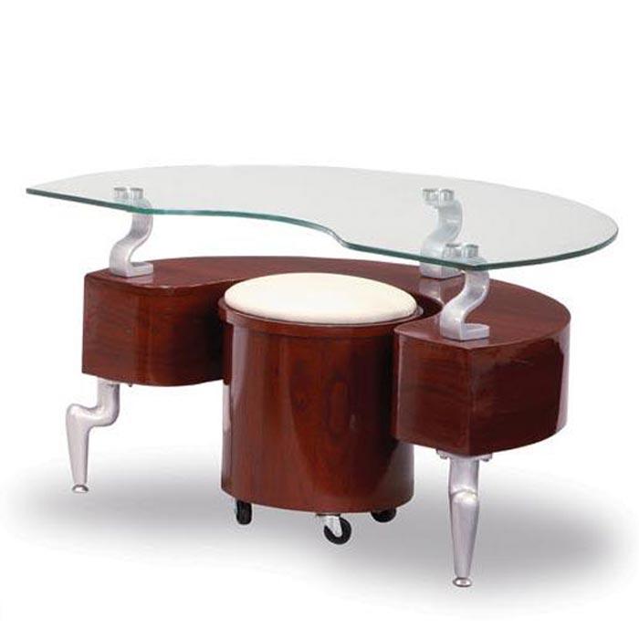 Contemporary Mahogany Coffee Table