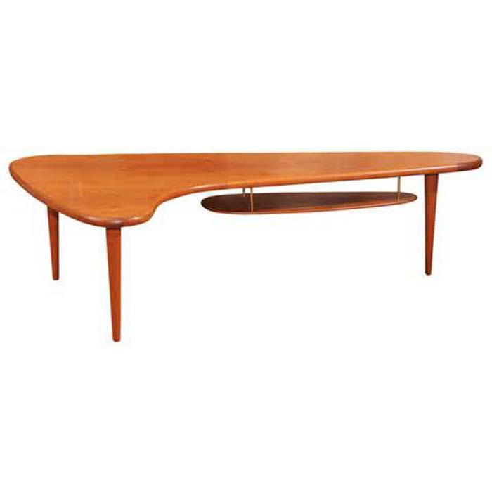 Danish Boomerang Coffee Table