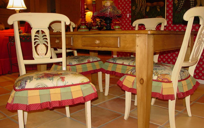 Dining Room Chair Cushions With Ruffles