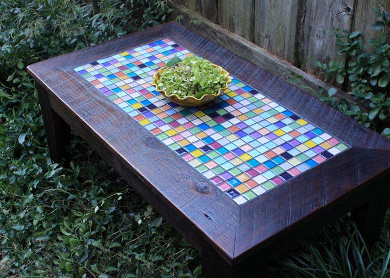 Glass Mosaic Coffee Table