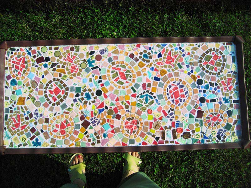 How To Mosaic A Coffee Table