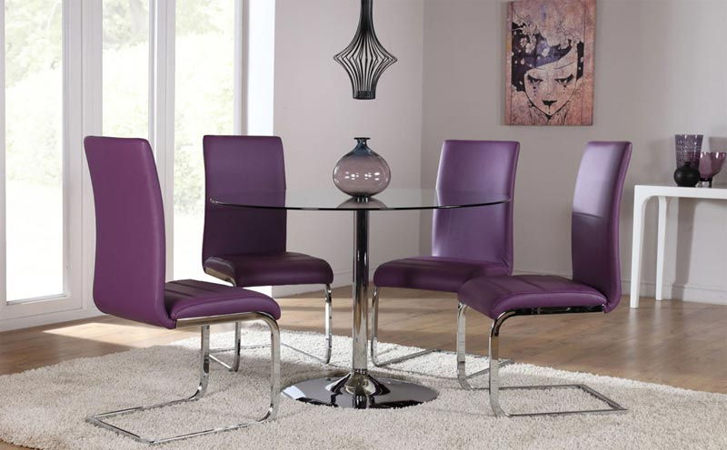 Overstock Purple Dining Chairs