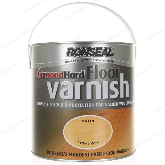 Ronseal Diamond Hard Floor Varnish Clear 5L
