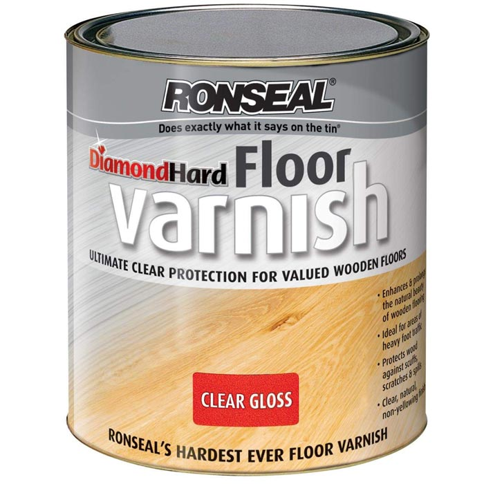 Ronseal Diamond Hard Floor Varnish Clear Gloss