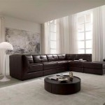 : Stacey Leather Sectional Sofa 6 Piece Modular