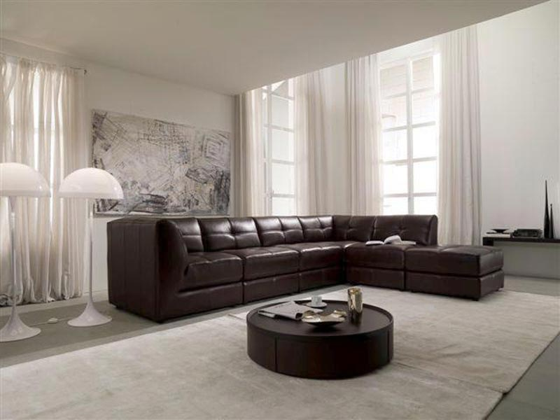 Stacey Leather Sectional Sofa 6 Piece Modular