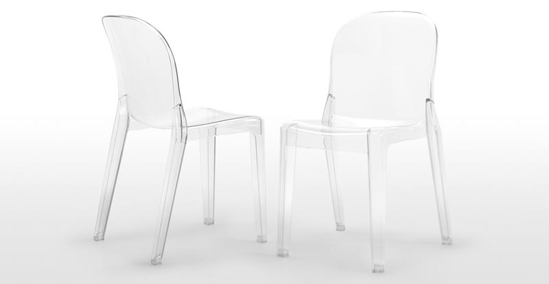 Acrylic Dining Chairs Clear