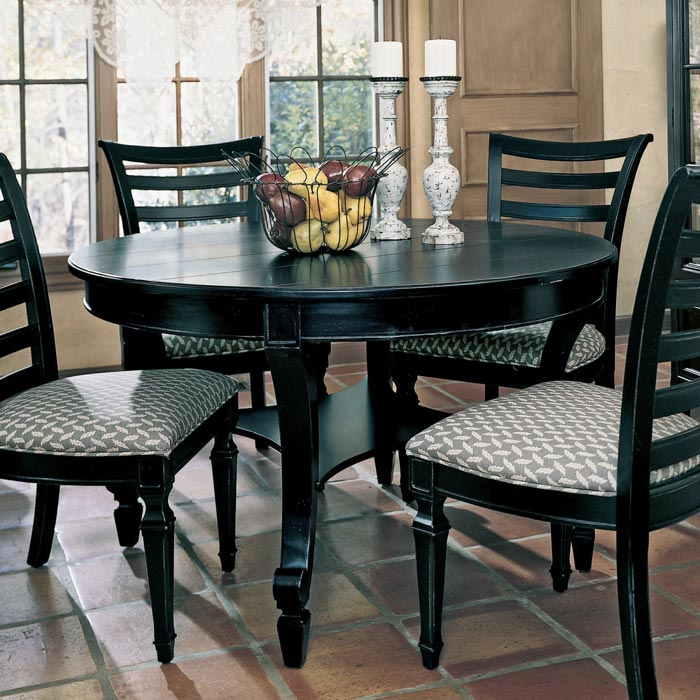 Black Wood Dining Table And Chairs