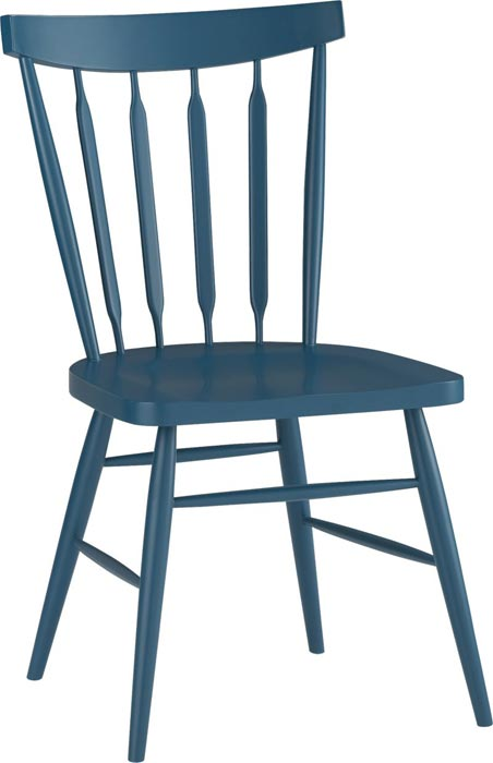 Blue Wood Dining Chairs