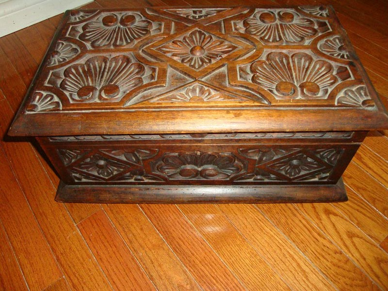 antique carved box