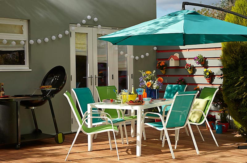 b and q garden furniture parasols