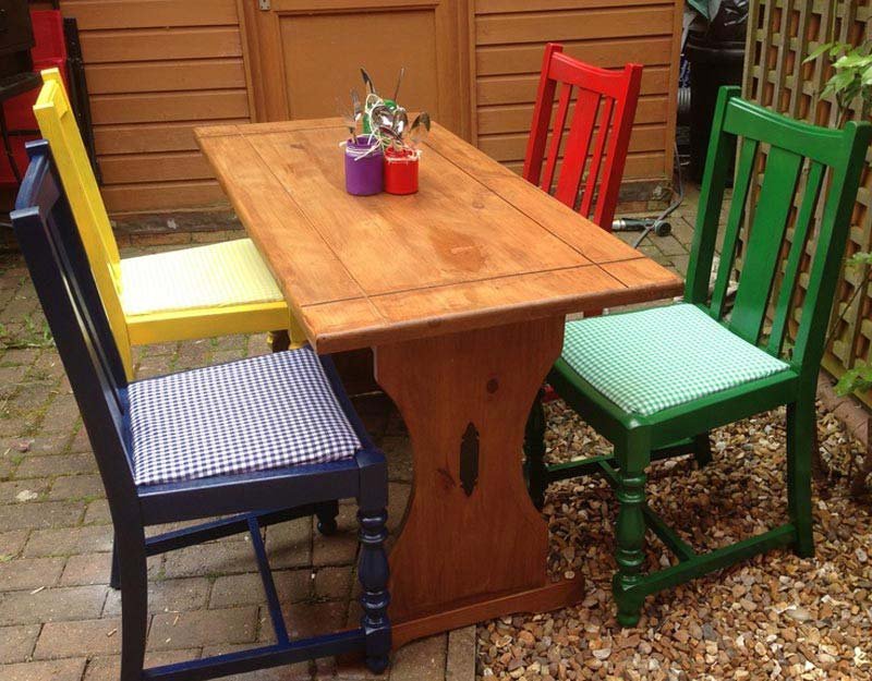 bright coloured dining chairs uk