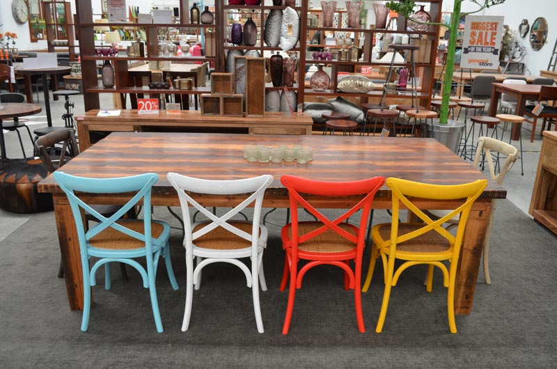 coloured dining chairs australia