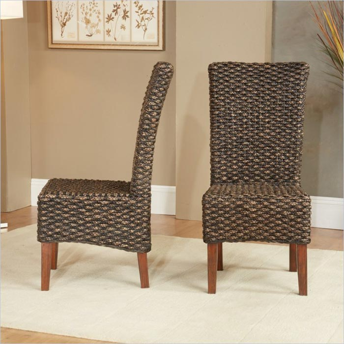 dark seagrass dining chairs