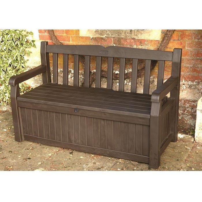 garden bench with under seat storage