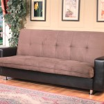 : kent 3 seater futon sofa bed in faux leather black