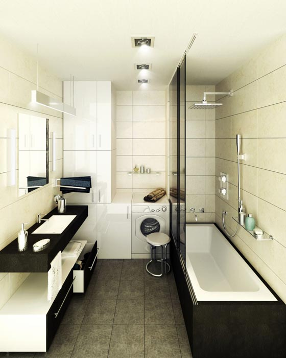 long narrow bathroom vanities