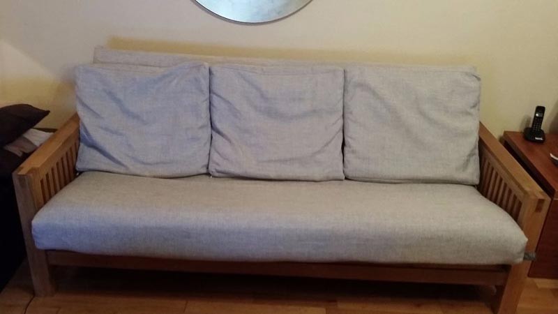 Oke 3 Seater Sofa Bed Solid Oak
