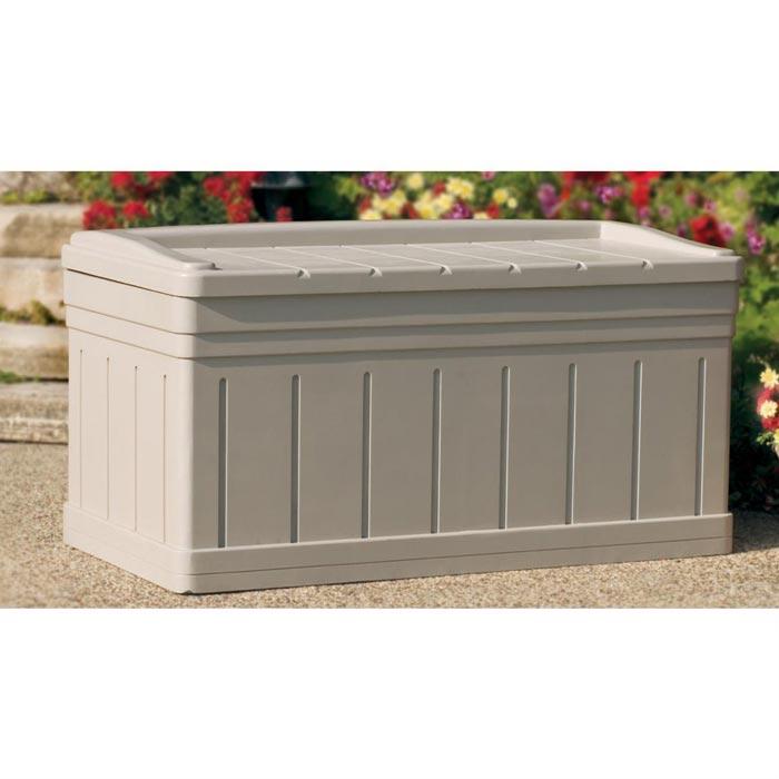 plastic garden storage bench seat covers