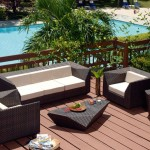 : 3 seater outdoor rattan sofa