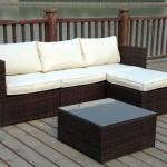 : 3 seater rattan garden sofa