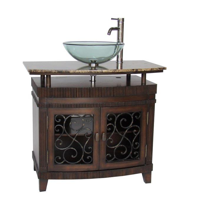 36 inch bathroom vanity vessel sink