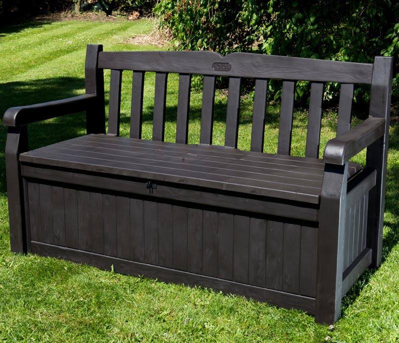 Patio Storage Bench Black