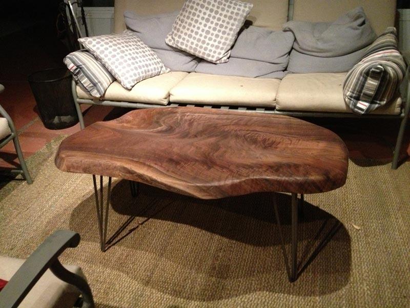 acacia dark wood coffee table