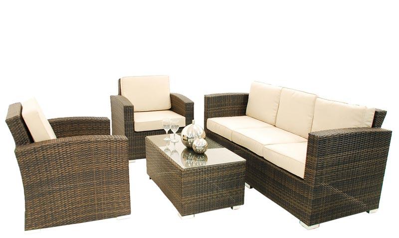 ascot rattan sofa set 3 seater sofa