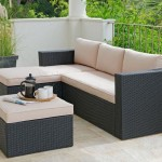 : black rattan 3 seater sofa