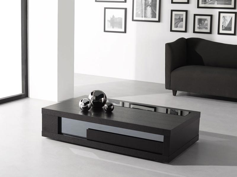 black swivel coffee table