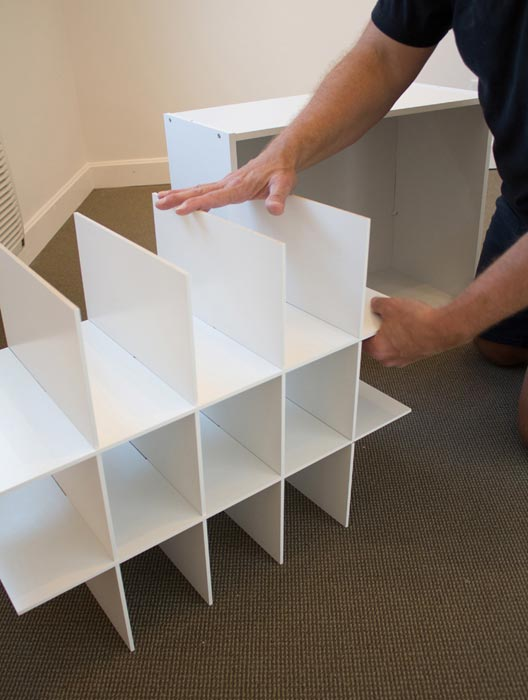 building shelving for shoes