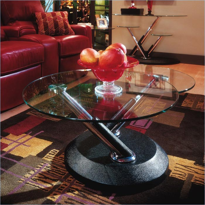 cascade swivel coffee table