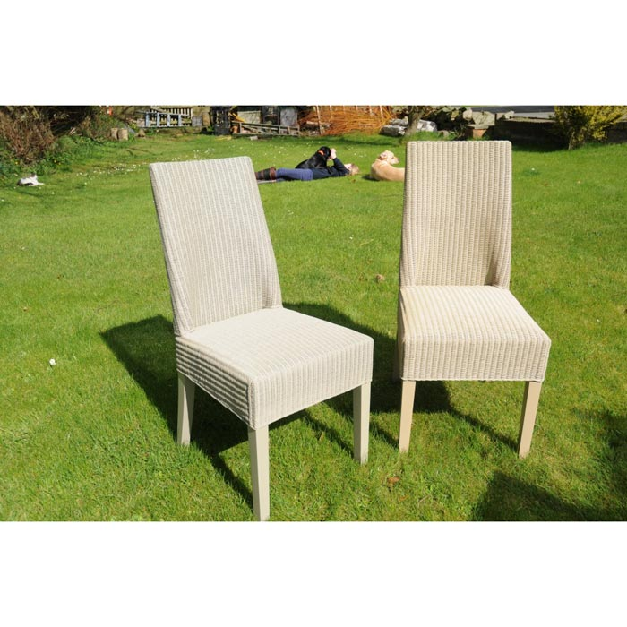 cheap lloyd loom dining chairs