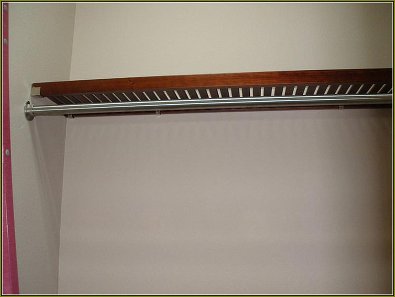 chrome shelf and rod bracket
