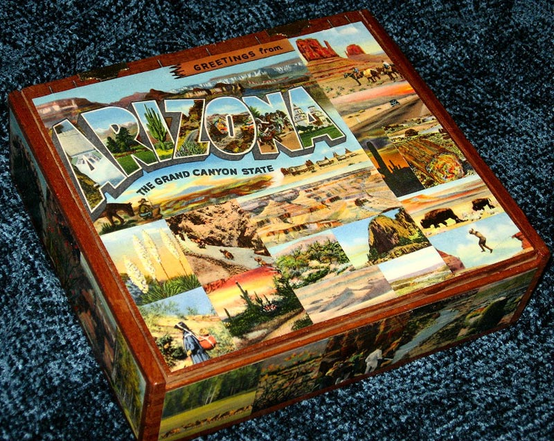 decoupage cigar boxes