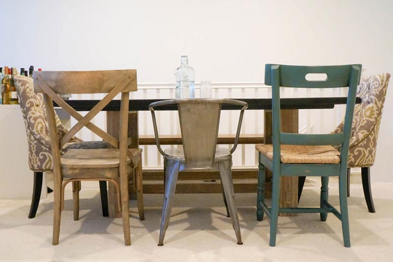 dining room sets with mismatched chairs