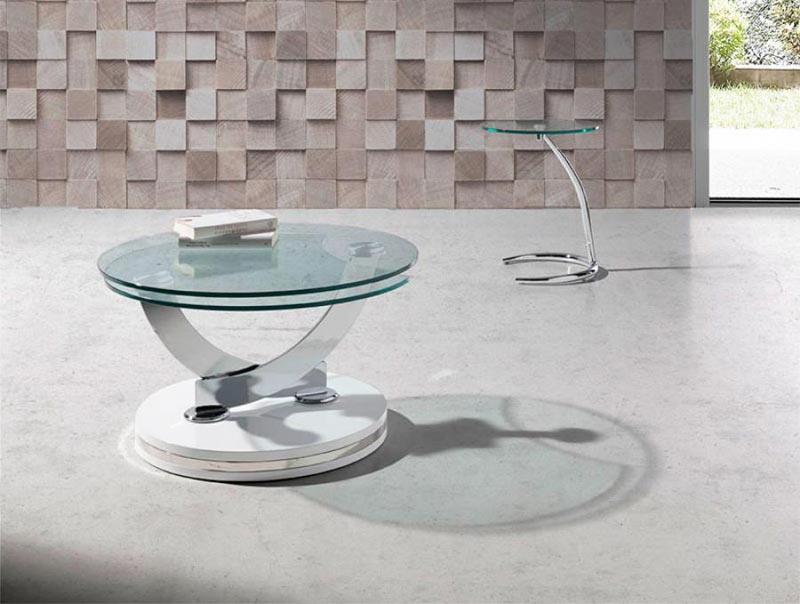 glass swivel coffee table uk