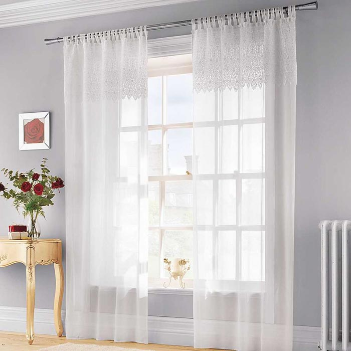john lewis ready made voile curtains