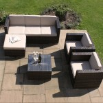 : kingston 3 seater rattan sofa set