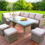 : kingston 4 pc 3 seater rattan sofa garden furniture set