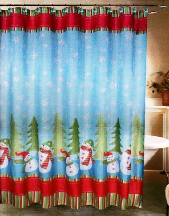 kmart christmas shower curtains