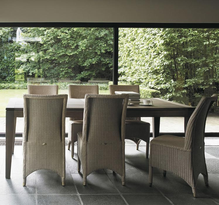 lloyd loom boston dining chairs