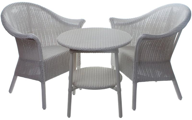 lloyd loom wicker dining chairs