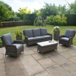 : maze rattan georgia 3 seater sofa set