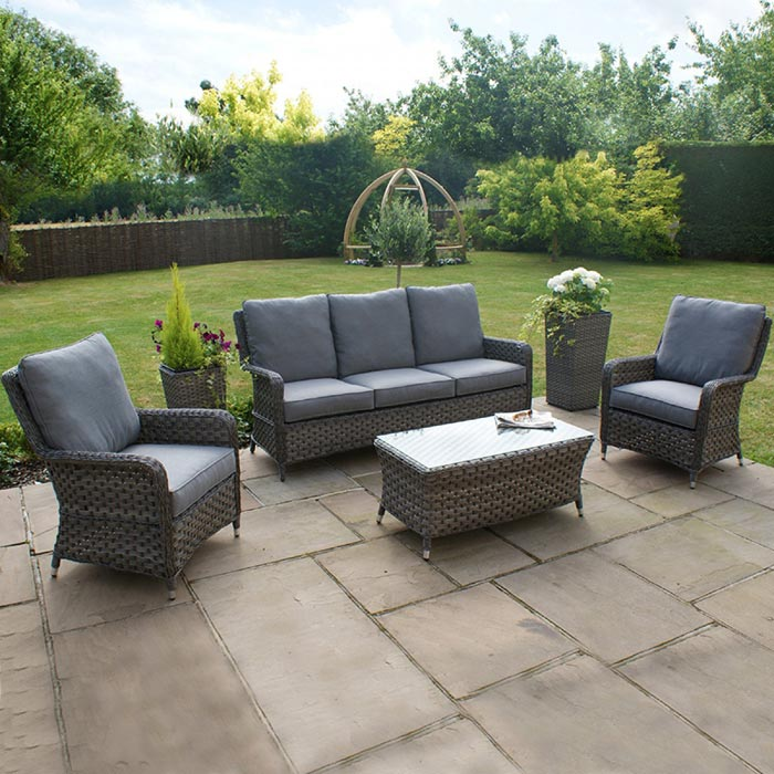 Maze Rattan Georgia 3 Seater Sofa Set