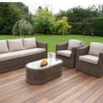 : maze rattan kingston 3 seater garden sofa set