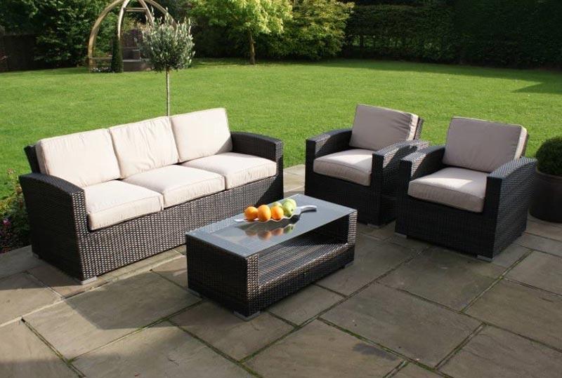 Maze Rattan Kingston 3 Seater Sofa Set