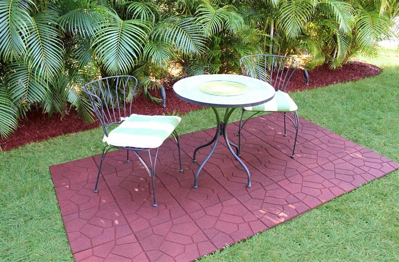 outdoor recycled rubber flooring