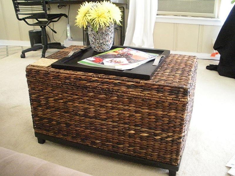 small wicker trunk coffee table